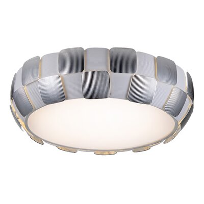 Melvyn 1-Light Flush Mount Finish: Chrome, Size: 6.3 H x 21.5 W x 21.5 D