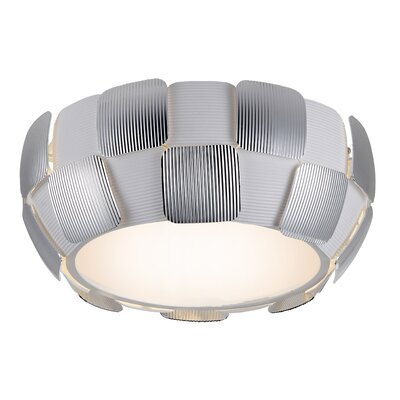 Melvyn 1-Light Flush Mount Finish: Chrome, Size: 6.3