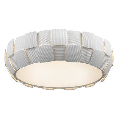 Melvyn 6-Light Flush Mount Finish: White