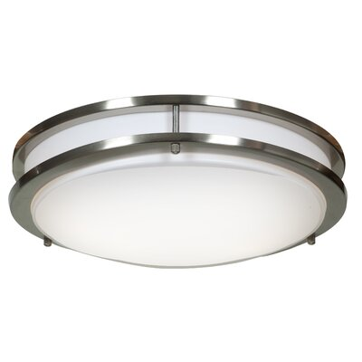 Penning 1-Light 20W Flush Mount Finish: Brushed Steel