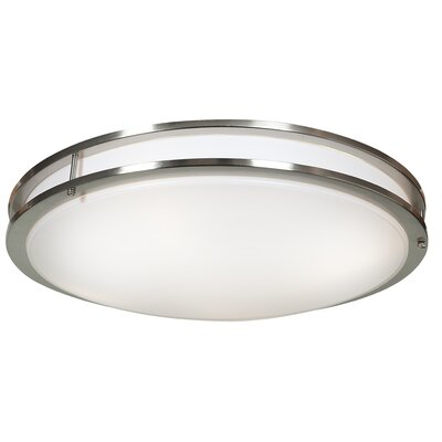 Penning 1-Light 35W Flush Mount Finish: Brushed Steel