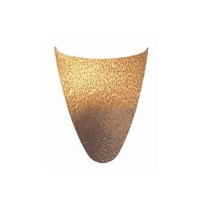 Safari Italian Wall Sconce with Silver Amber Art Glass