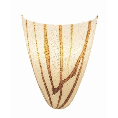 Safari Italian Wall Sconce with Lava Art Glass