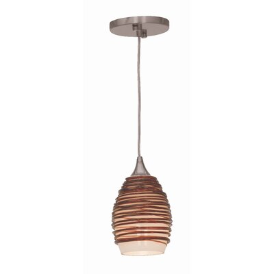 Adele 1-Light Mini Pendant Glass Color: Plum