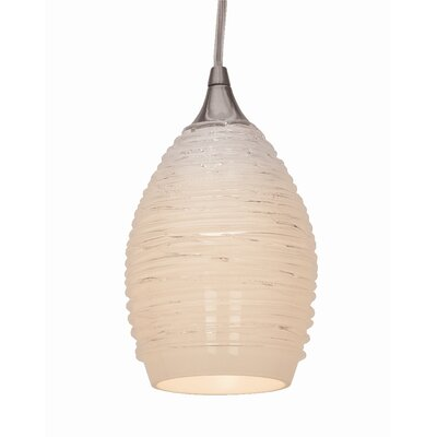Adele 1-Light Mini Pendant Glass Color: White