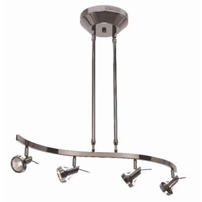 Versahl 4-Light Spotlight Finish: Matte Chrome