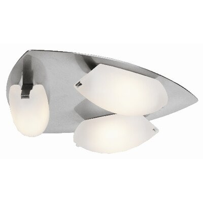 Sundorne 3-Light Semi-Flush Mount Finish: Matte Chrome