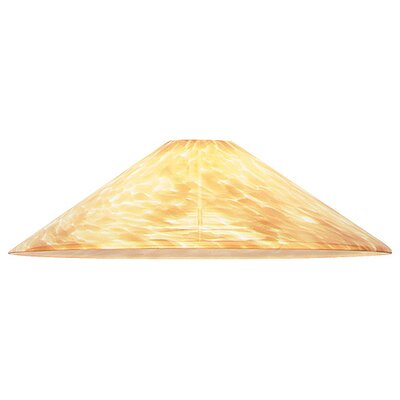 13.5 Glass Empire Pendant Shade Color: Cognac