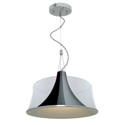 Metalico 1-Light Drum Pendant