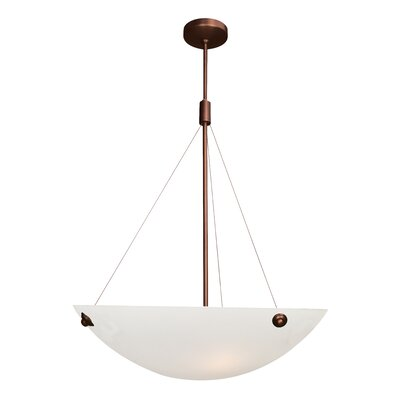 Noya 3-Light Inverted Pendant Finish: Bronze, Size: 39.5 - 78 H x 32.5 W x 28 D