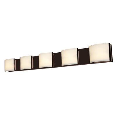 Access Lighting Nitro 2 5-Light Bath Bar 62295-BS/OPL