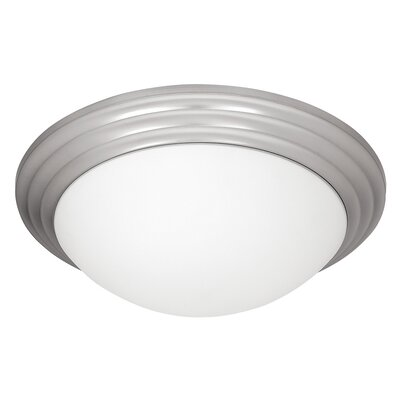 Cherise 2-Light Flush Mount Finish: Brushed Steel, Size: 4 H x 14 W x 14 D