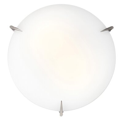 Katheryn 2-Light Flush Mount Bulb Type: Fluorescent, Size: 3.5 H x 12 W x 12 D