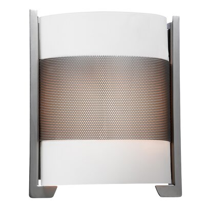20739-BS/OPL Brushed Steel Wall Sconce with Opal Glass Iron Access Lighting 20739-BS/OPL