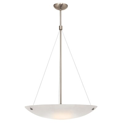 Ternate 4-Light Pendant Finish: Brushed Steel, Size: 78 H x 24 W x 24 D, Shade Color: White