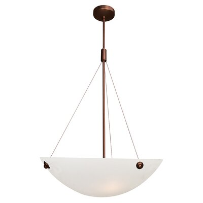 Ternate 4-Light Pendant Finish: Brushed Steel, Size: 78 H x 18 W x 18 D, Shade Color: White