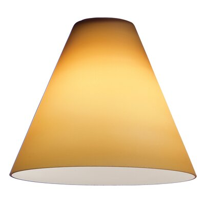 7 Glass Empire Lamp Shade Glass Color: Amber