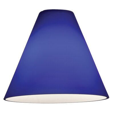Inari Silk 7 Glass Empire Lamp Shade Glass Color: Cobalt