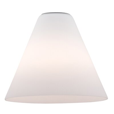 7 Glass Empire Lamp Shade Glass Color: White