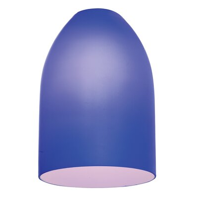 5.25 Glass Oval Pendant Shade Glass Color: Cobalt