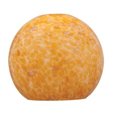 12 Glass Sphere Pendant Shade Glass Color: Cognac