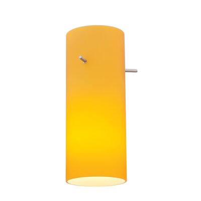 4 Glass Drum Pendant Shade Glass Color: Amber
