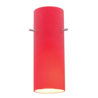4 Glass Drum Pendant Shade Glass Color: Red