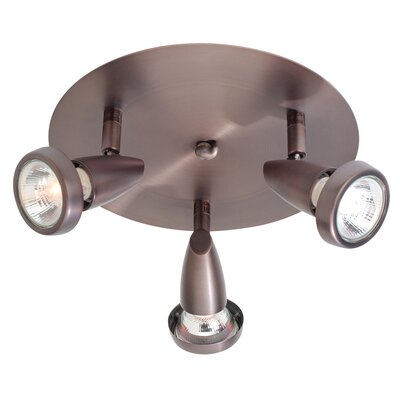Rocheleau 3-Light Semi-Flush Mount Finish: Bronze