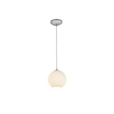 Oliveri Lantern 1-Light Mini Pendant Finish: Brushed Steel, Size: 8 H x 8 W x 8 D