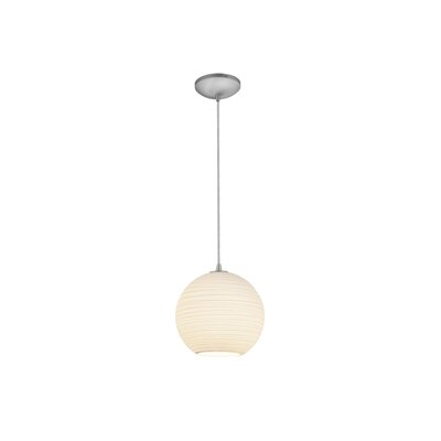 Oliveri Lantern 1-Light Mini Pendant Finish: Brushed Steel, Size: 12 H x 12 W x 12 D