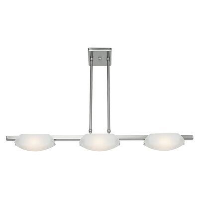 Nido 3-Light Kitchen Island Pendant Finish: Matte Chrome