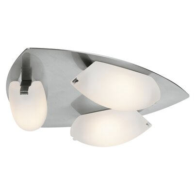 Sundorne 3-Light Flush Mount Finish: Matte Chrome