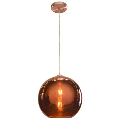 Oldenburg 1-Light Mini Pendant Size: 12 H x 12 W x 12 D