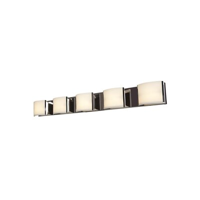 Access Lighting Nitro 5-Light Bath Bar 62295LEDD-BS/OPL