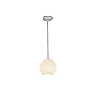 Oliverio Lantern 1-Light Mini Pendant Finish: Oil Rubbed Bronze, Size: 8 H x 8 W x 8 D