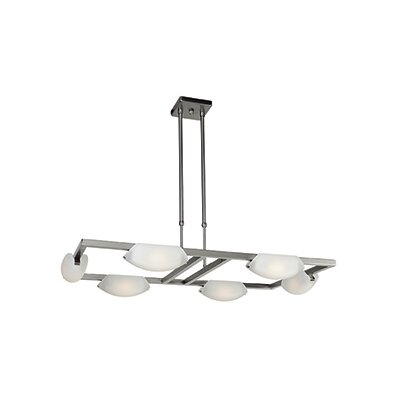 Sundorne 6-Light Kitchen Island pendant Finish: Matte Chrome