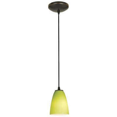 Casas 1-Light Oval Mini Pendant Finish: Oil Rubbed Bronze
