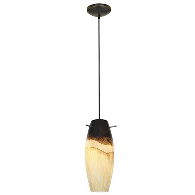 Cabernet 1-Light Mini Pendant Finish: Oil Rubbed Bronze, Shade Color: Sand Slate