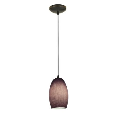 Chianti 1-Light Mini Pendant Shade Color: Purple Cloud, Finish: Oil Rubbed Bronze