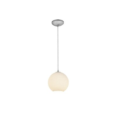 Oliveri Lantern 1-Light Mini Pendant Finish: Brushed Steel, Size: 10 H x 10 W x 10 D