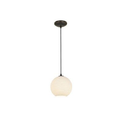 Japanese Lantern 1-Light Mini Pendant Finish: Oil Rubbed Bronze, Size: 10 H x 10 W x 10 D