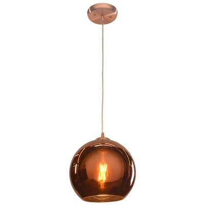 Oldenburg 1-Light Mini Pendant Size: 10 H x 10 W x 10 D