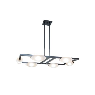 Nido 6-Light Kitchen Island pendant Finish: Oil Rubbed Bronze