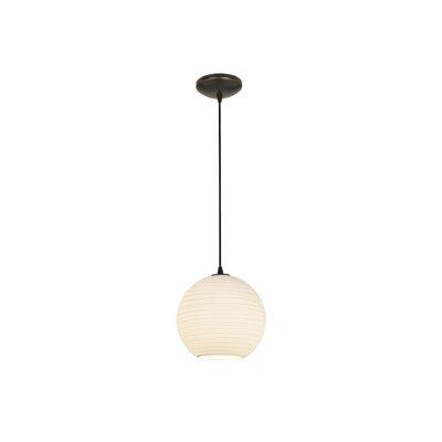 Oliveri Lantern 1-Light Mini Pendant Finish: Oil Rubbed Bronze, Size: 12 H x 12 W x 12 D