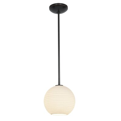 Oliveras Lantern 1-Light Mini Pendant Finish: Oil Rubbed Bronze, Size: 12 H x 12 W x 12 D