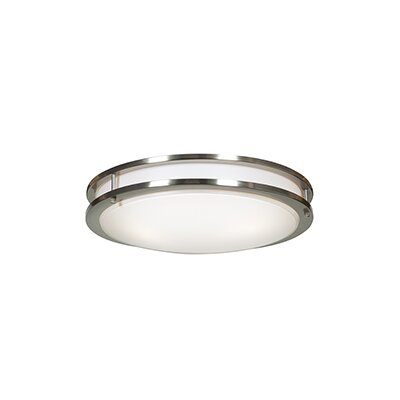 Alana 1-Light 30W Flush Mount Finish: Brushed Steel
