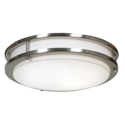 Penning 1-Light 15W Flush Mount Finish: Brushed Steel