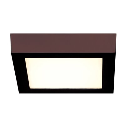 Strike 2.0 1-Light Flush Mount Finish: Bronze