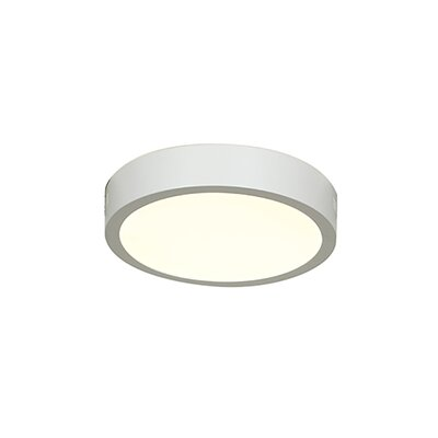 Josephs 1-Light Flush Mount Finish: White