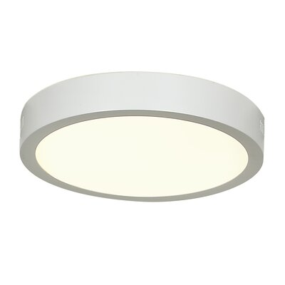 Strike 2.0 1-Light Flush Mount Finish: White